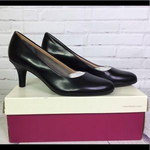 Naturalizer Partner Black Leather Pumps Shoes 7.5
